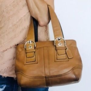 Coach Burnished Tan Leather Soho Buckle Tote Bag